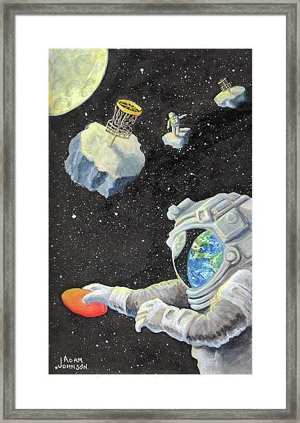 Astronaut Disc Golf Framed Print