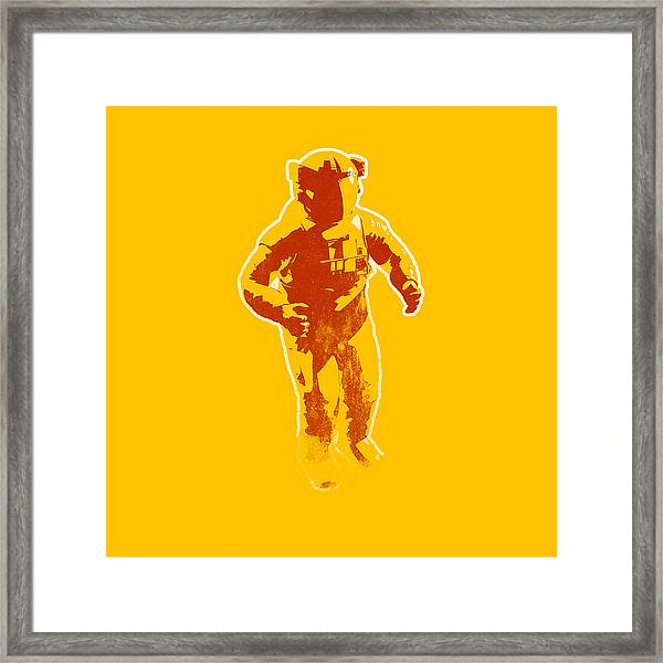 Astronaut Graphic Framed Print