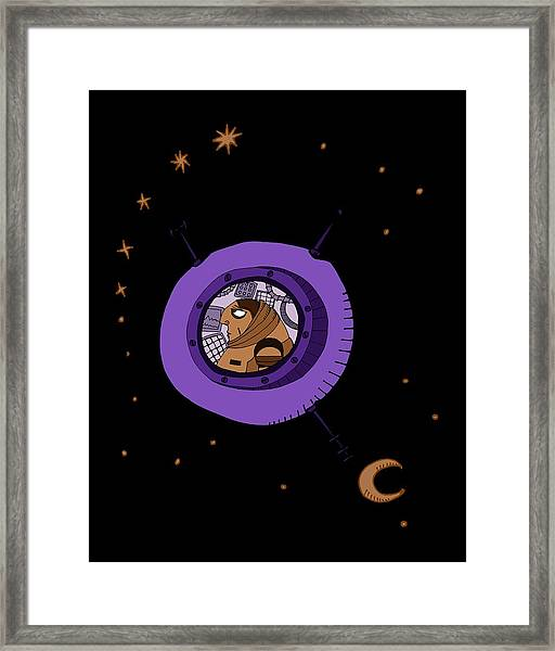 Astronaut In Deep Space Framed Print