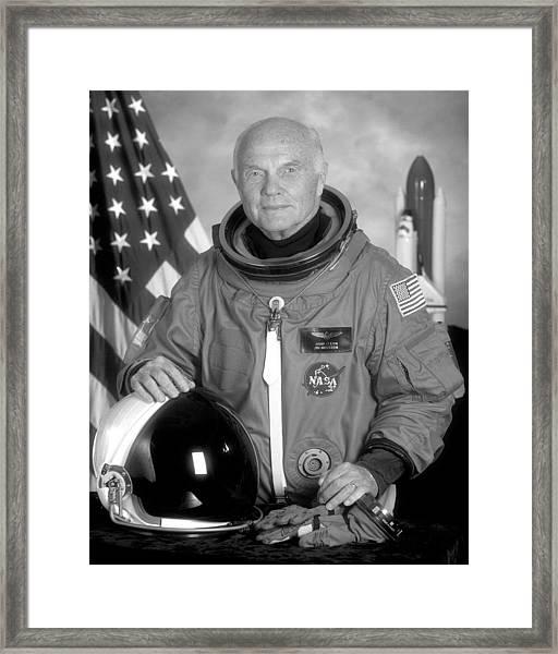 Astronaut John Glenn - 1998 Framed Print