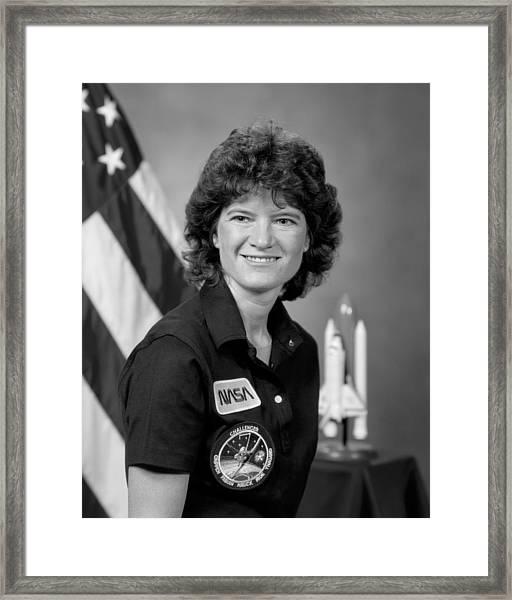 Astronaut Sally Ride  Framed Print