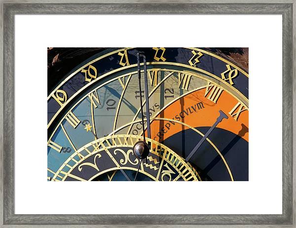 Astronomical Clock Prague Framed Print