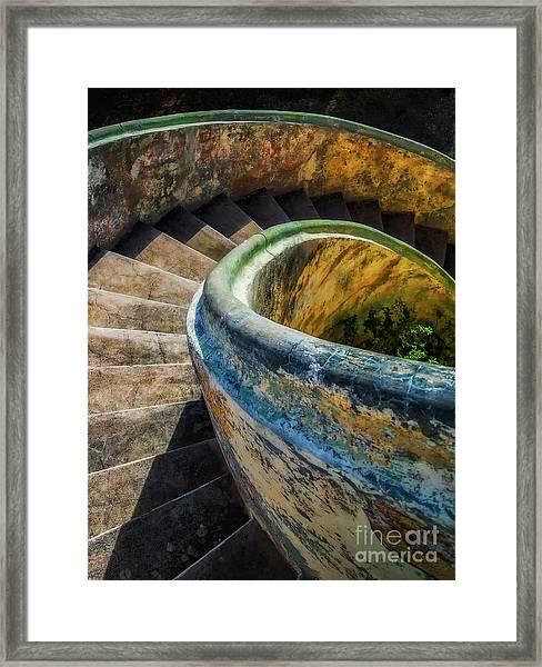 Asylum Staircase Framed Print