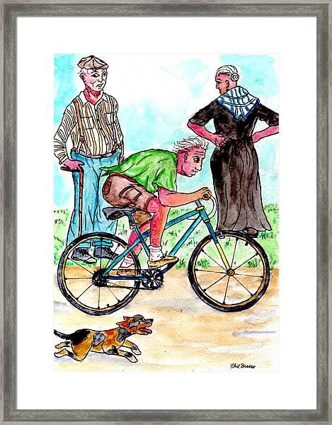 At 74 Years Old I Got My First Bike  Framed Print