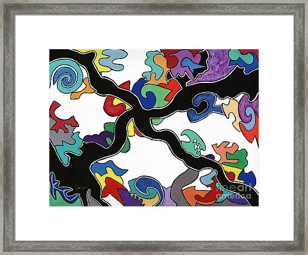 At A Crossroad In Crossville Framed Print