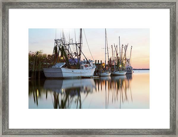 At Rest - Shem Creek Framed Print