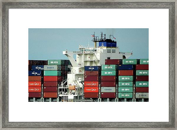 At Sea Framed Print by Gerald Greenwood