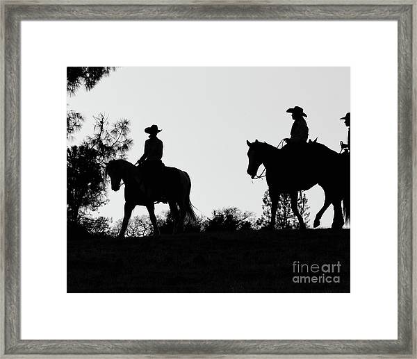 At Sunset On The Ranch Framed Print