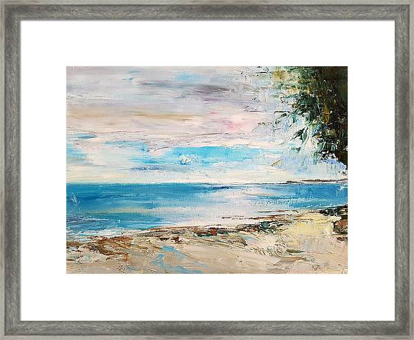 At The Bay Framed Print