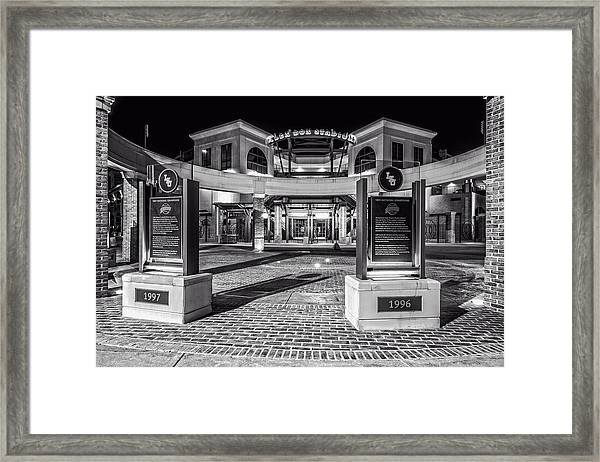 At The Box Framed Print