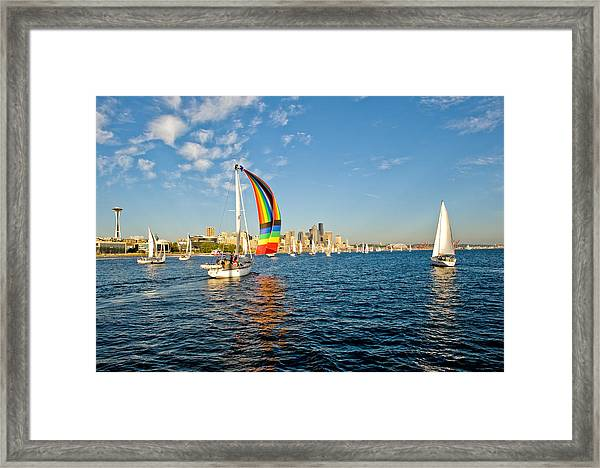 At The End Of The Rainbow Framed Print by Tom Dowd