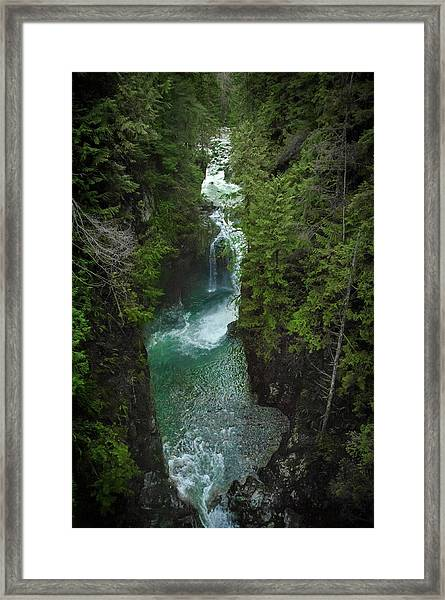 Wonderful Waterfall Framed Print