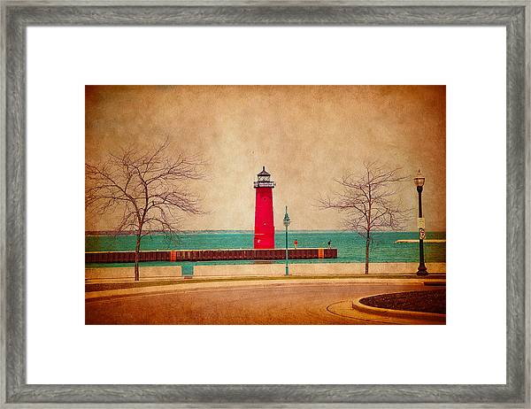 At The Harbor Framed Print