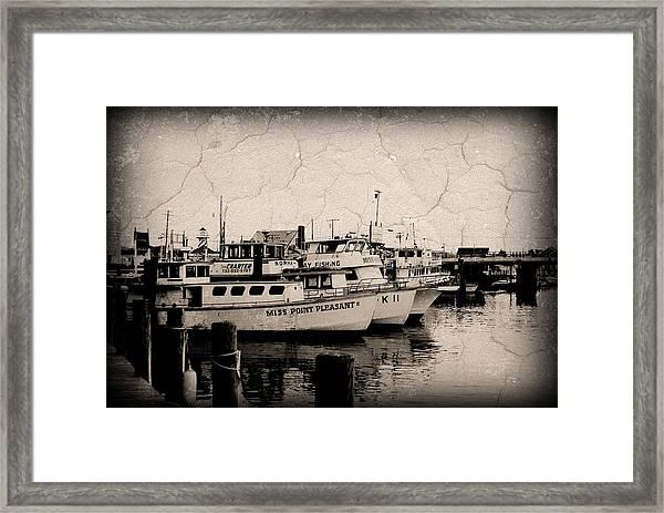 At The Marina - Jersey Shore Framed Print