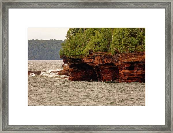 At The Point Framed Print