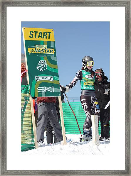At The Start Framed Print