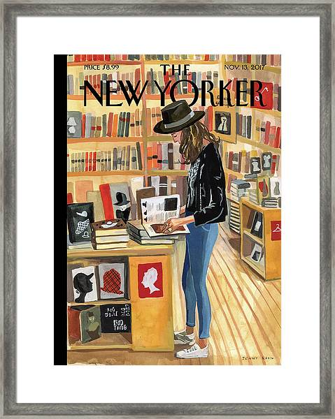 At The Strand Framed Print