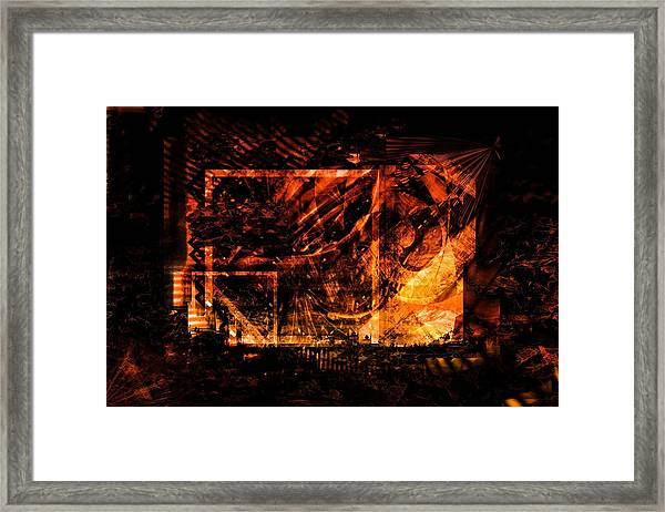 At The Theater Framed Print