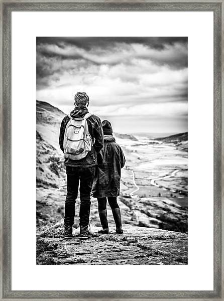 Framed Print featuring the photograph On The Edge by Nick Bywater