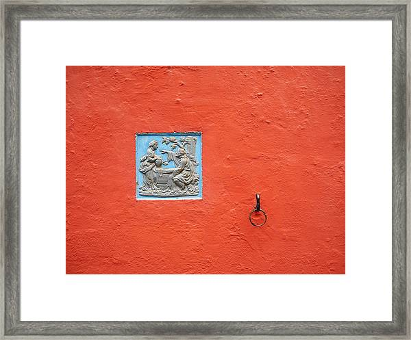 At The Well Framed Print