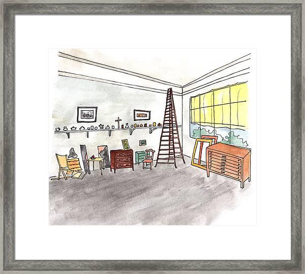 Atelier Of Paul Cezanne Framed Print