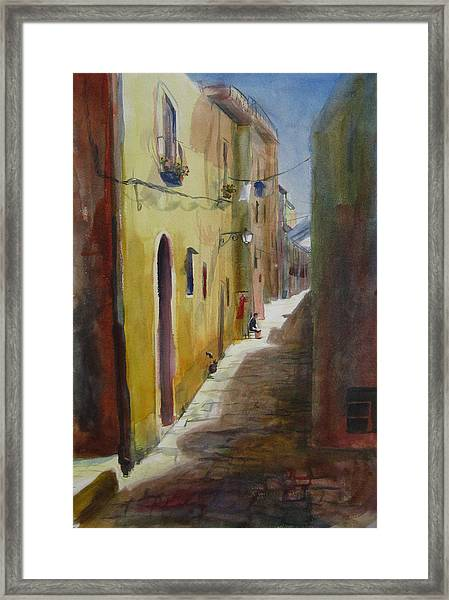 Atena Lucana Framed Print