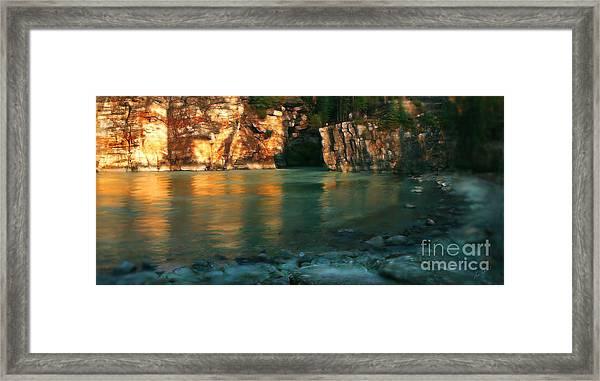 Athabasca At Sunset Framed Print