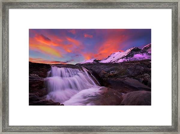 Athabasca On Fire Framed Print