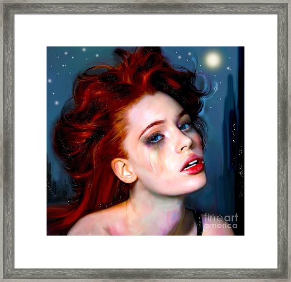 Athena Girl Framed Print