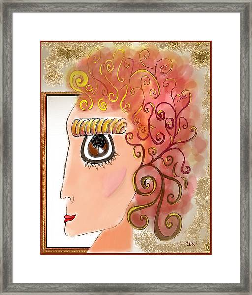 Athena In The Mirror Framed Print