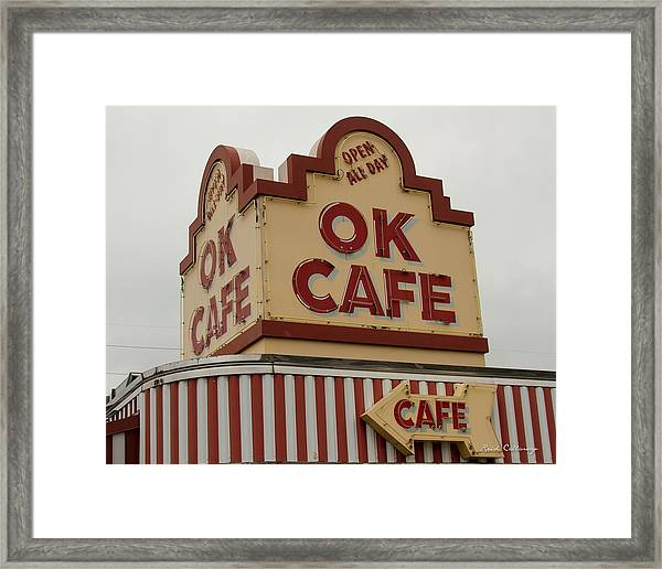 Atlanta Classic Ok Cafe Atlanta Restaurant Art Framed Print