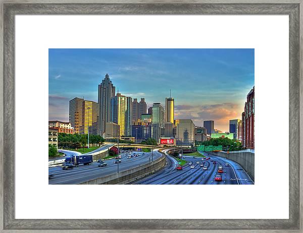 Atlanta Coca-cola Sunset Reflections Art Framed Print