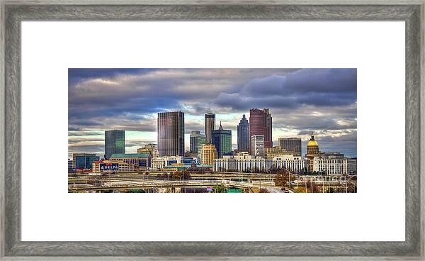 Atlanta Downtown Skyline Cityscape Art Framed Print