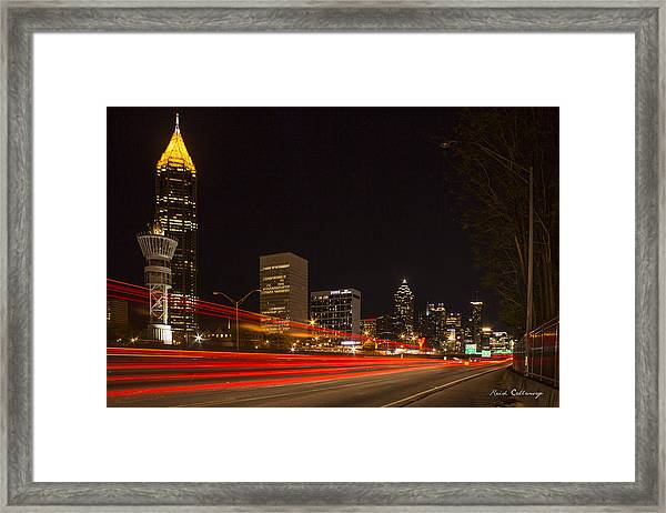 Atlanta Drive By Shooting Atlanta Night Art Framed Print
