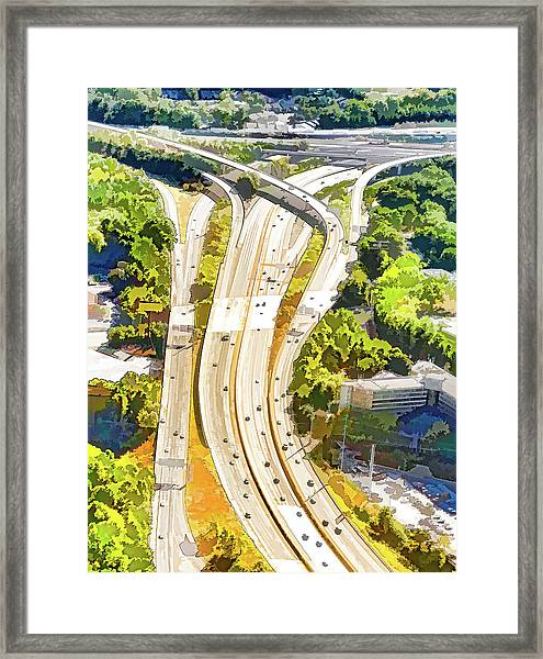 Atlanta Highways Framed Print