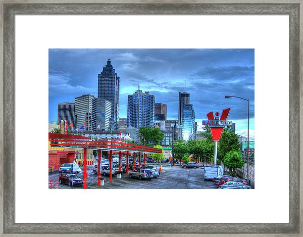 Atlanta Landmark The Varsity Art Framed Print