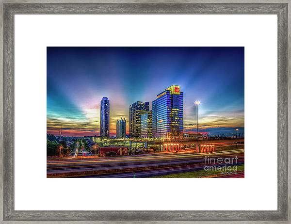 Atlanta Midtown Atlantic Station Starburst Atllanta Georgia Art Framed Print