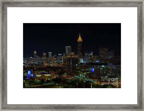 Atlanta Nights Framed Print
