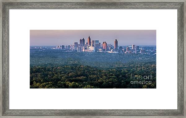 Atlanta Skyline Framed Print