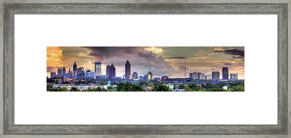 Atlanta Wet Sunset Cityscape Art Framed Print