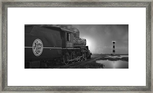 Atlantic Coast Line Panoramic Framed Print