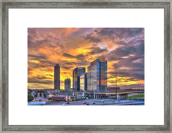 Atlantic Station Reflective Beauty Atlanta Framed Print