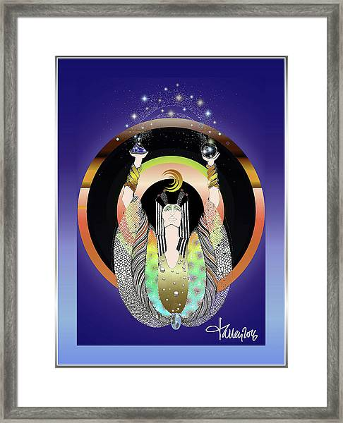 Framed Print featuring the digital art Atlantis - Copper Ring Energy Alchemy by Larry Talley