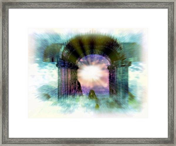 Atlantis Welcomes You Framed Print by Rebecca Phillips