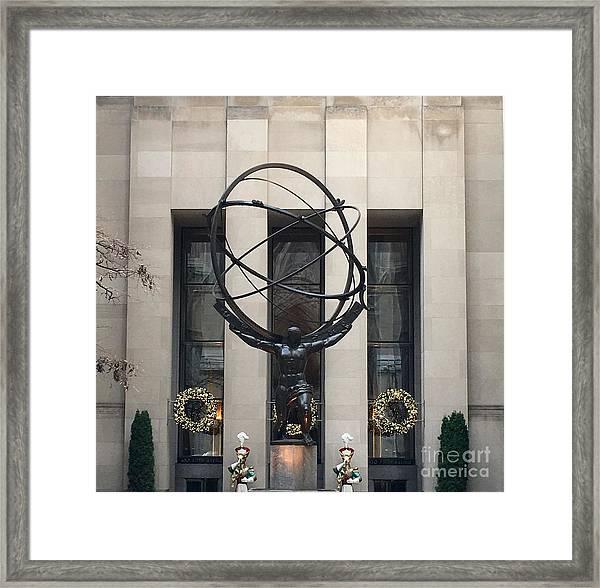 Atlas Statue Framed Print