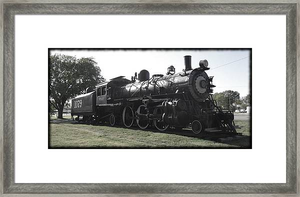 Atsf 2-6-2 Locomotive 1079 Diminished Framed Print