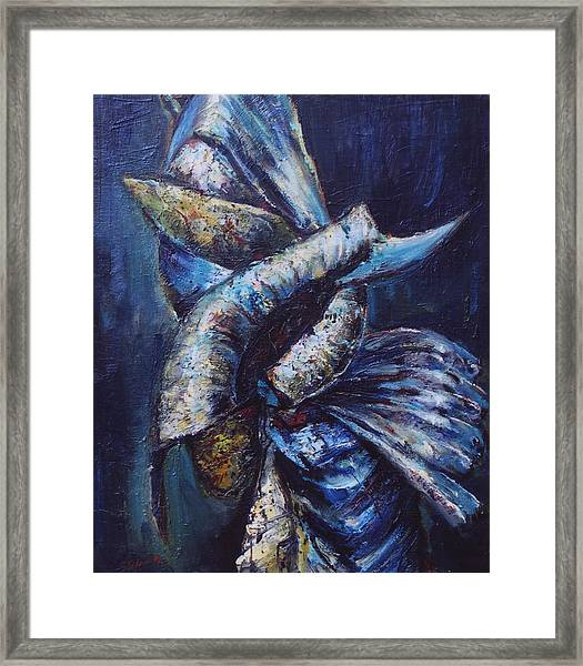 Attempt To Fly Framed Print
