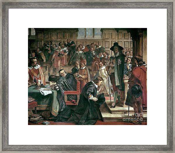 Attempted Arrest Of 5 Members Of The House Of Commons By Charles I Framed Print