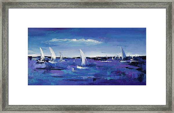 Framed Print featuring the painting Au Gre Du Vent by Elise Palmigiani