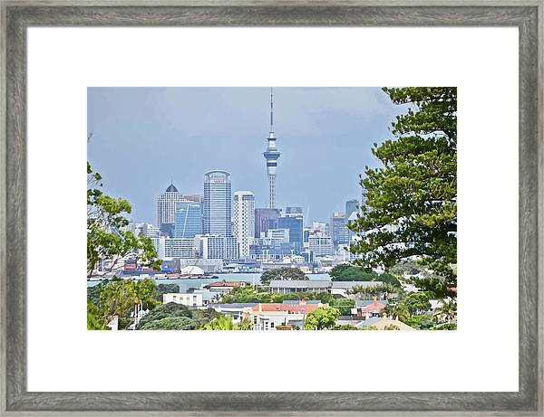 Auckland City C B D Framed Print